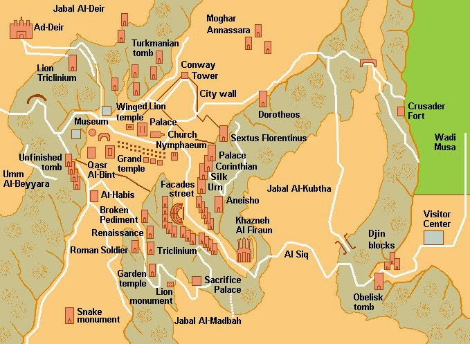 Articles page 59 popular archeology map of the petra archaeological sites clearly there is much to see at this site wikimedia commons fandeluxe Images