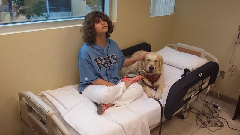 Becky and Thule in the hospital