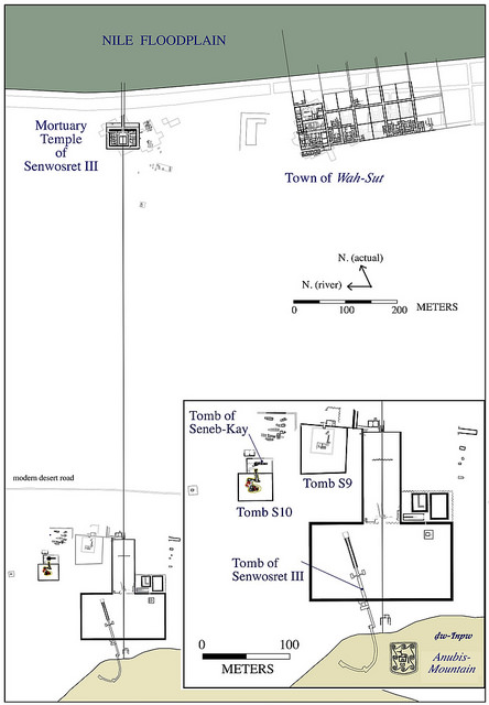 tombOverall plan of the complex of Senwosret III at South Abydos